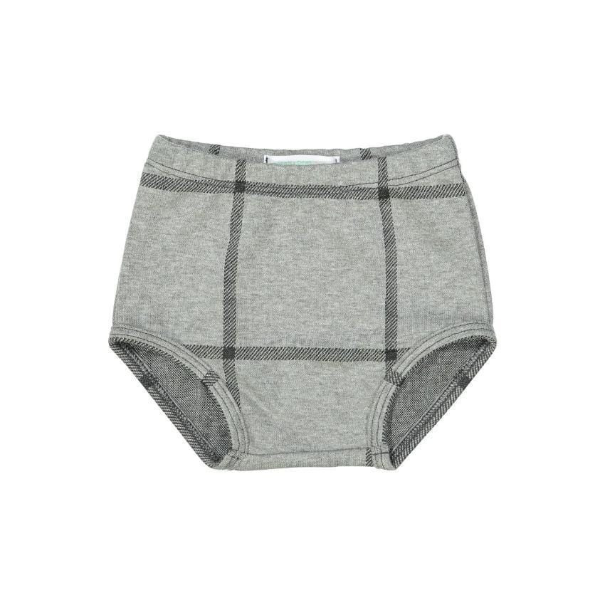 Petals & Peas Petals & Peas Gray Plaid Bloomers  JellyBeanz Kids