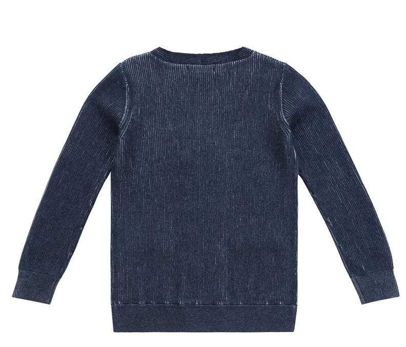 Petit Clair Petit Clair Double Breasted Dark Blue Cardigan  JellyBeanz Kids