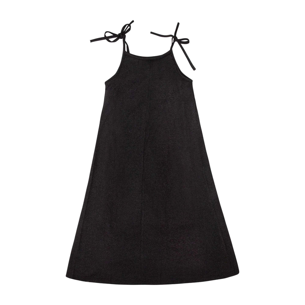 Petit Clair Petit Clair Black Shimmery Maxi Dress  JellyBeanz Kids