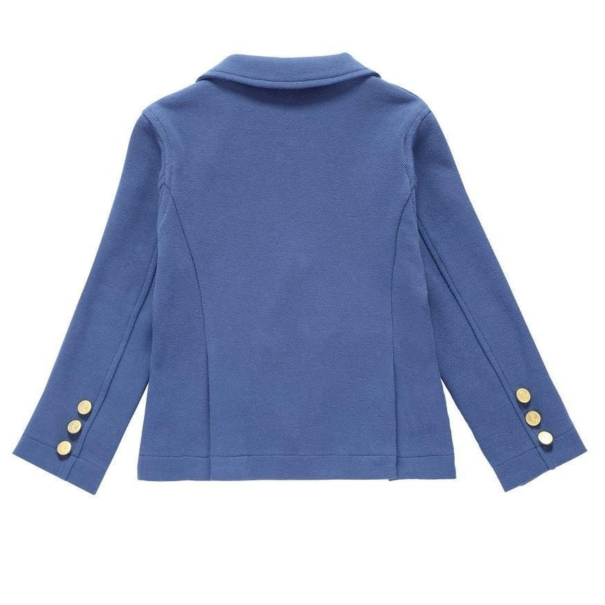 Petit Clair Double Breasted Blue Blazer  JellyBeanz Kids