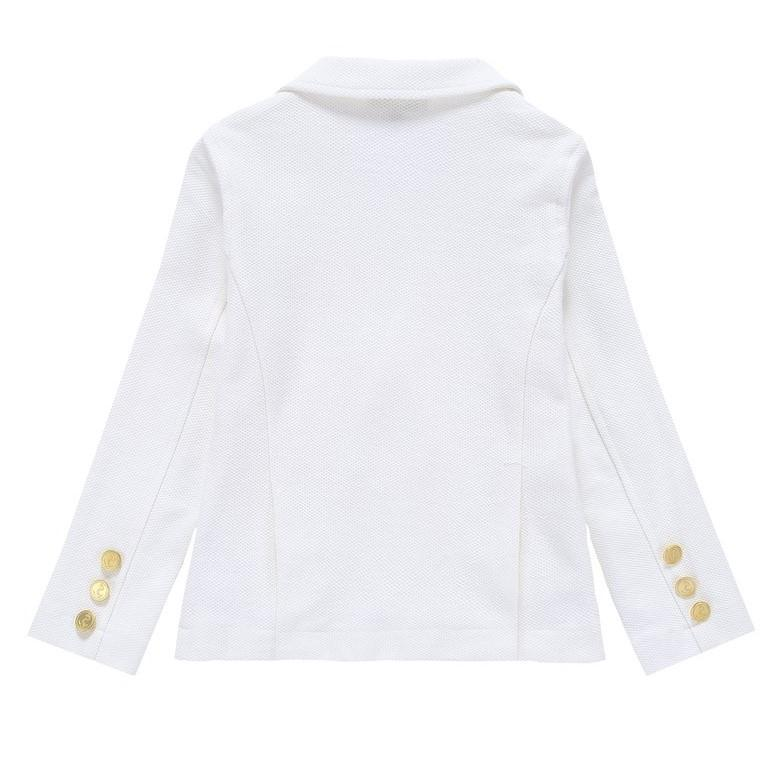 Petit Clair Petit Clair Double Breasted Ivory Pique Blazer  JellyBeanz Kids