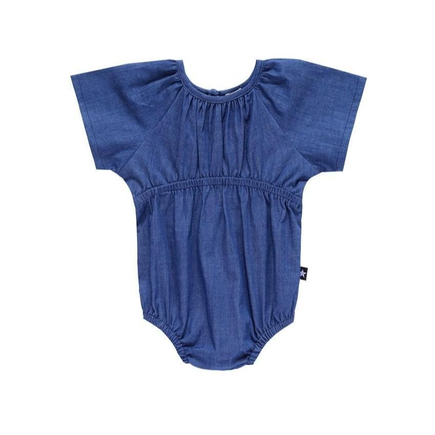Petit Clair Denim Romper  JellyBeanz Kids