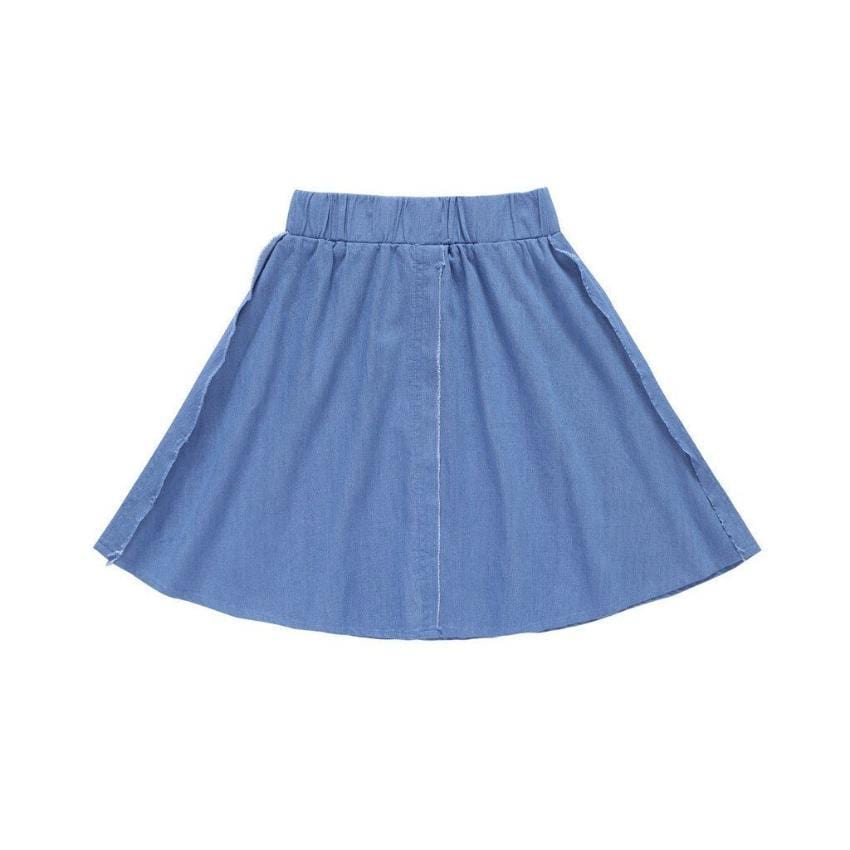 Petit Clair Frayed Denim Skirt  JellyBeanz Kids