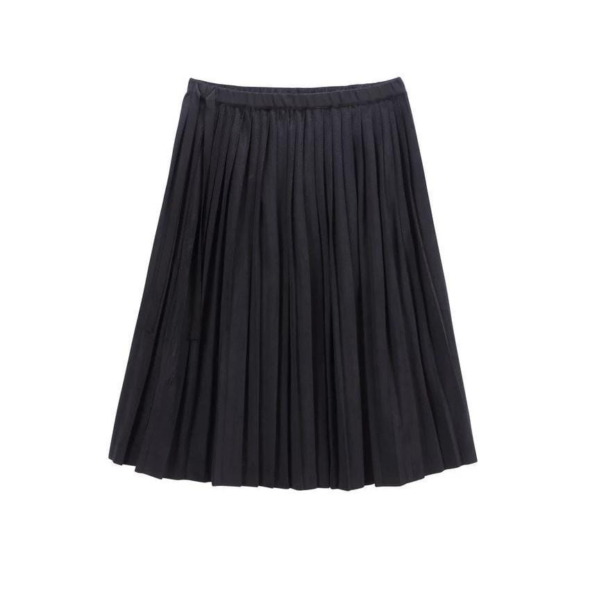 Petit Clair Skirt Jellybeanzkids Petit Clair Black Velvet Pleated Skirt