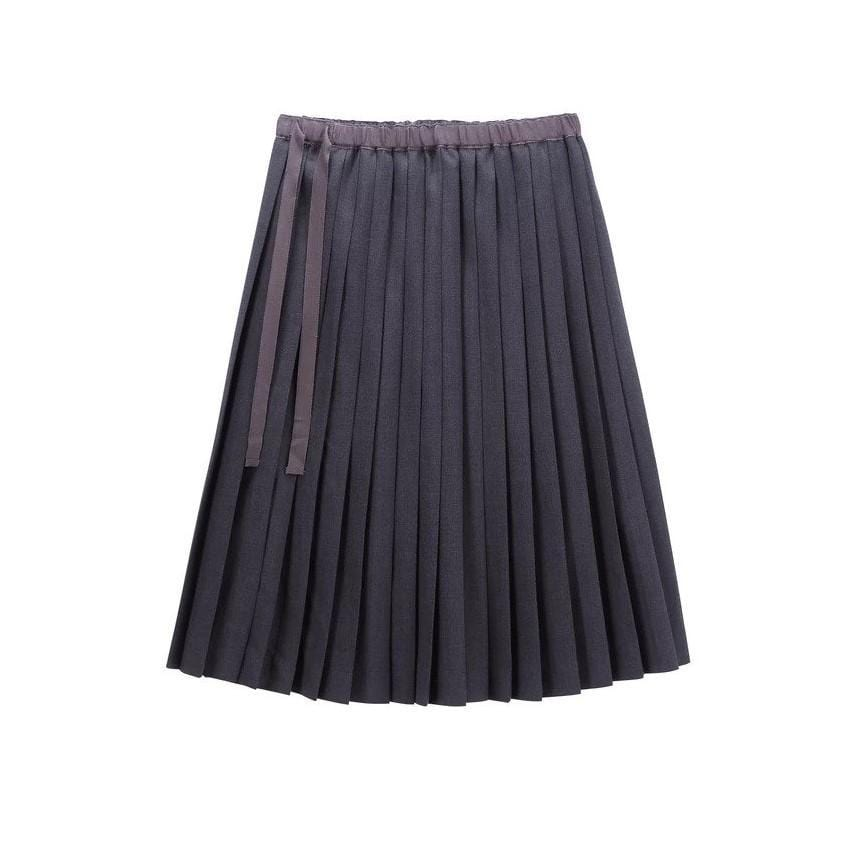 Petit Clair Skirt Jellybeanzkids Petit Clair Charcoal Pleated Skirt