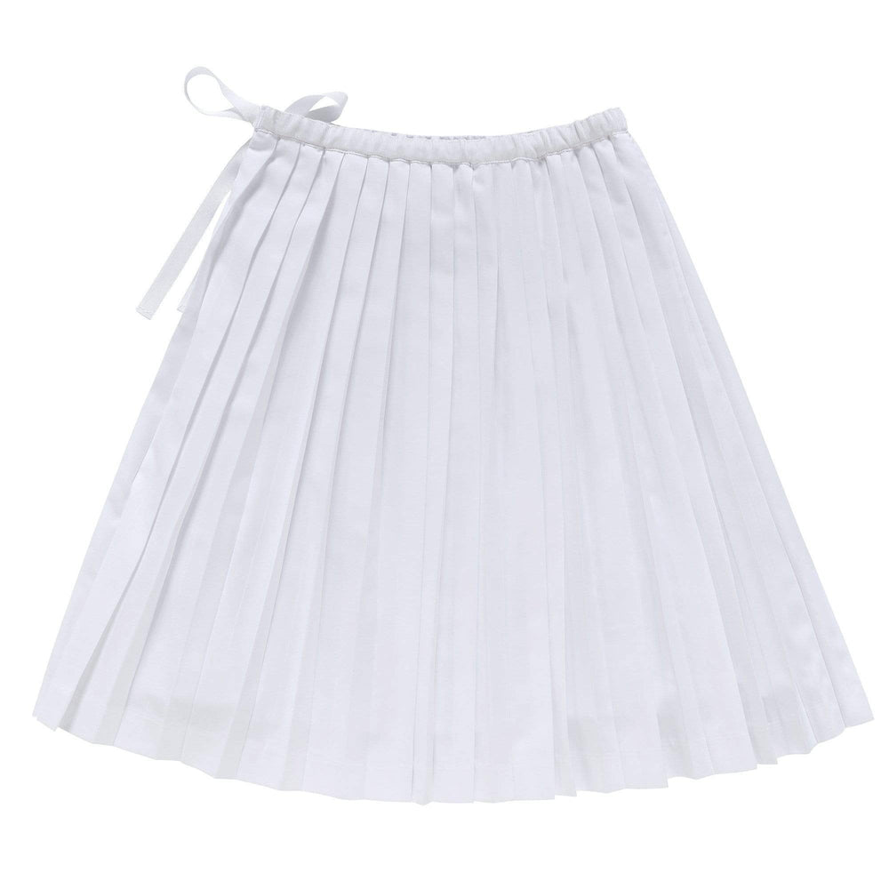 Petit Clair Petit Clair White Pleated Skirt  JellyBeanz Kids