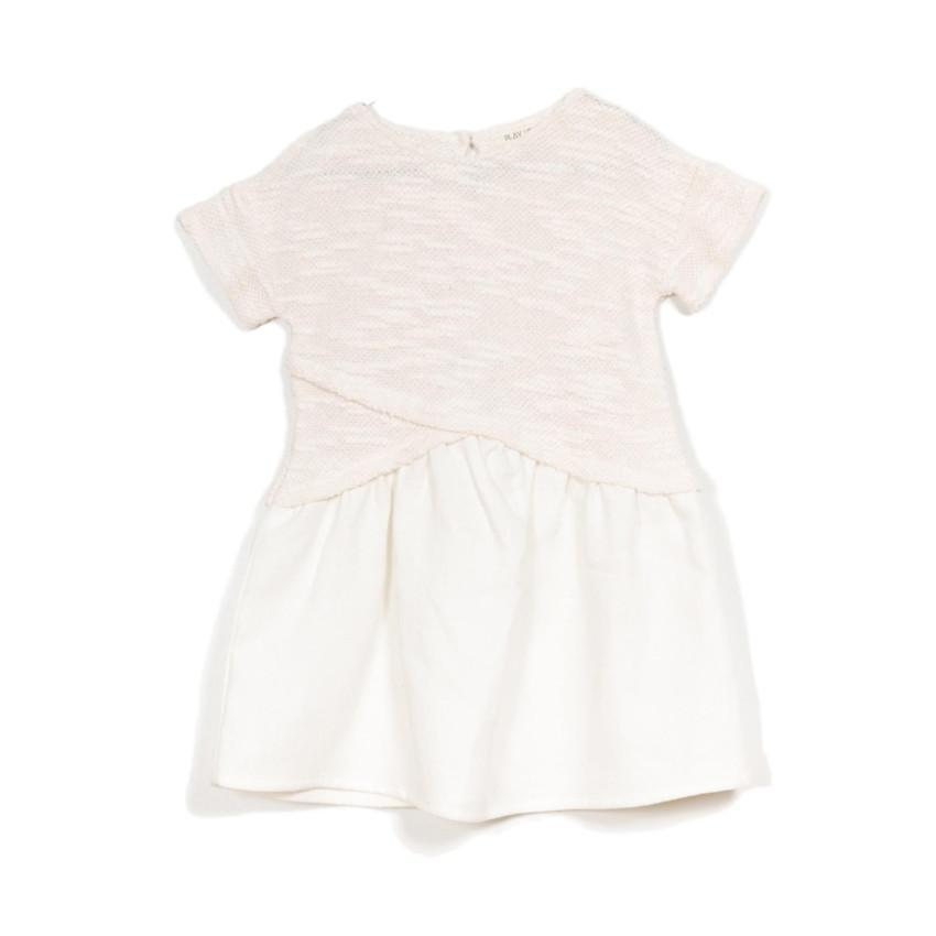 Play Up Off-White Mixed Dress  JellyBeanz Kids