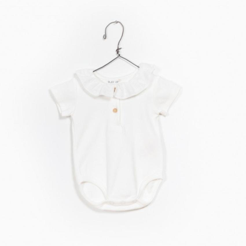 Play Up Off-White Ruffled Bodysuit  JellyBeanz Kids