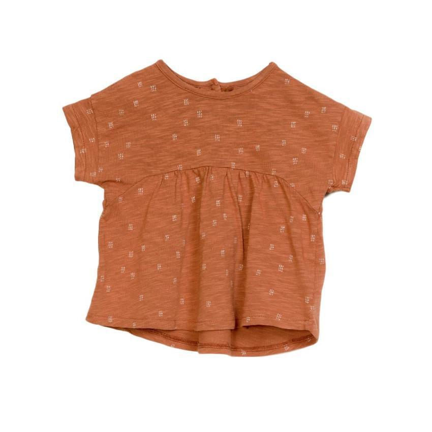 Play Up Terracotta Printed Jersey Tee  JellyBeanz Kids