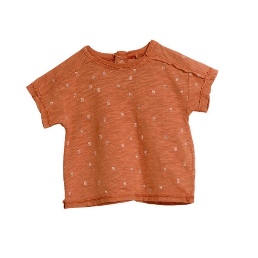 Play Up Terracotta Printed Tee  JellyBeanz Kids