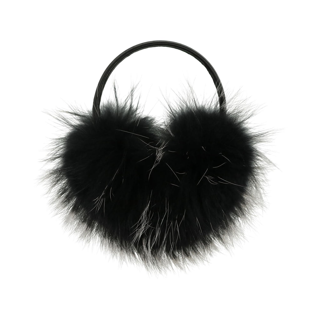 Scotch Bonnet Accessories Jellybeanzkids Scotch Bonnet Black Fur Earmuffs OS