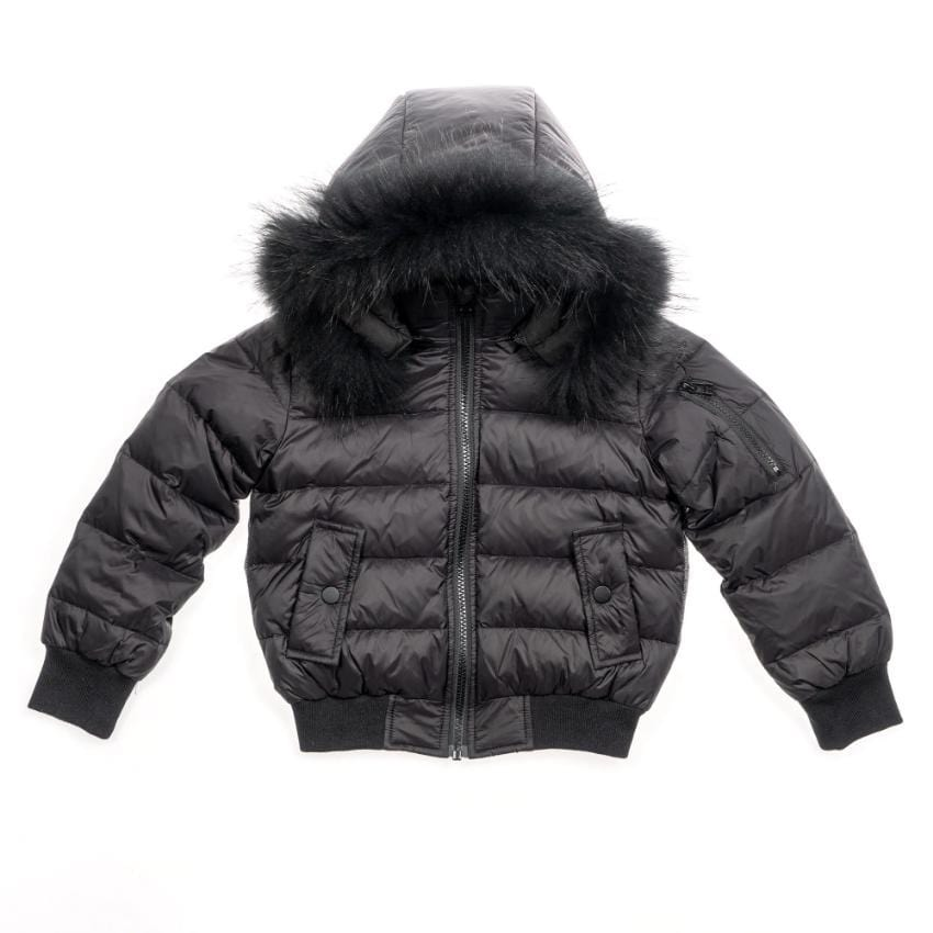 Scotch Bonnet Coat Jellybeanzkids Scotch Bonnet Black Bomber With Black Fur
