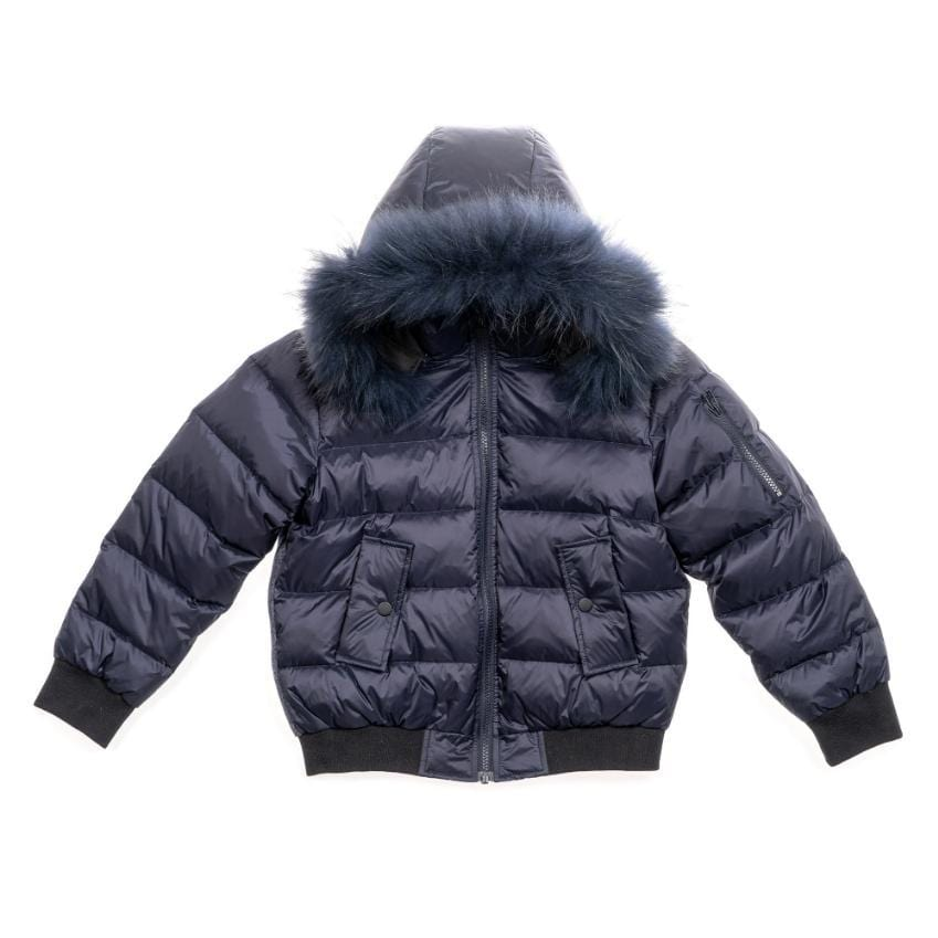 Scotch Bonnet Coat Jellybeanzkids Scotch Bonnet Navy Bomber With Navy Fur