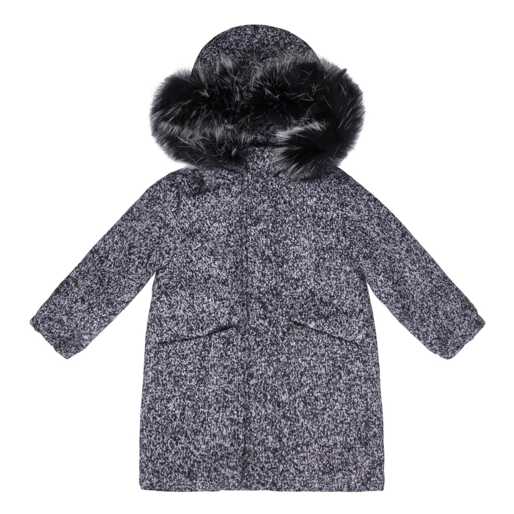 Scotch Bonnet jacket Jellybeanzkids Scotch Bonnet Black Speckled Wool Coat