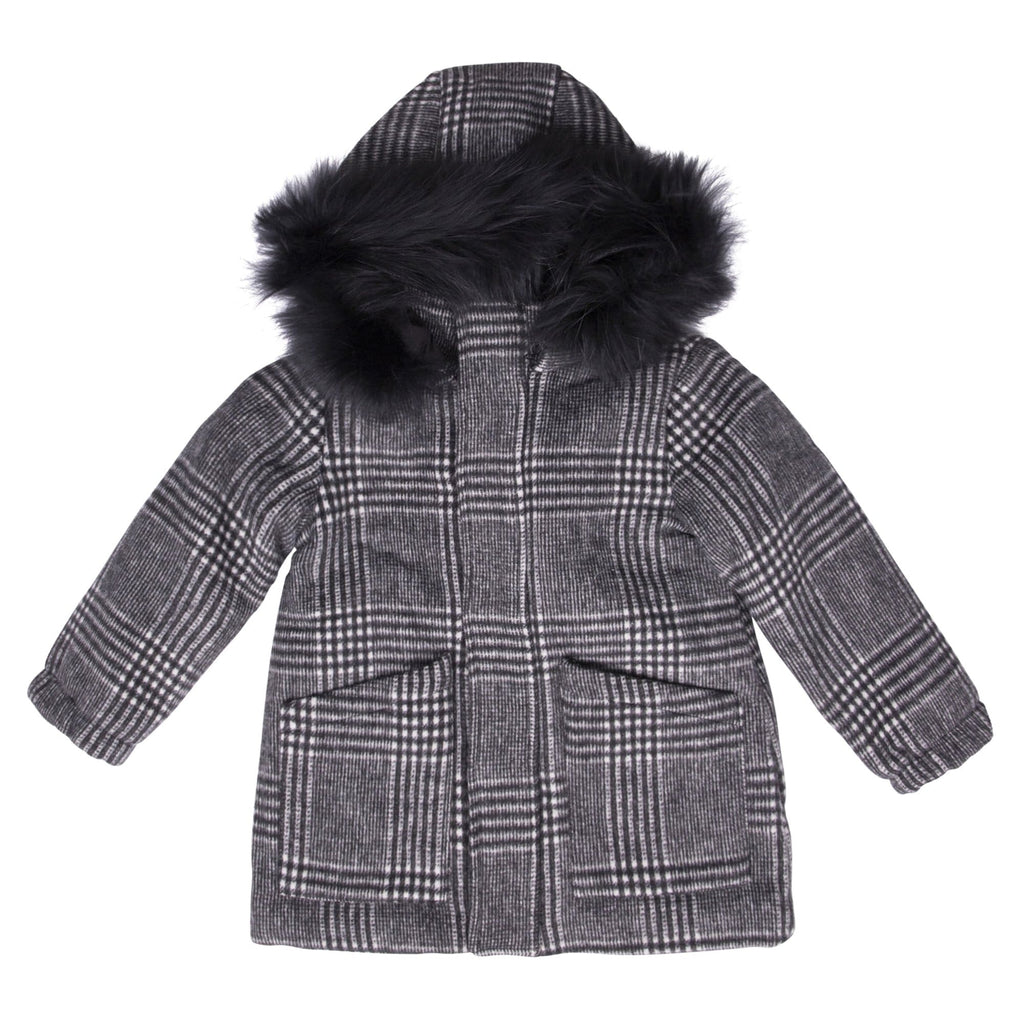 Scotch Bonnet Scotch Bonnet Plaid Wool Coat  JellyBeanz Kids