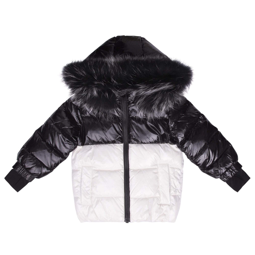 Scotch Bonnet jacket Jellybeanzkids Scotch Bonnet Shiny Black & White Jacket