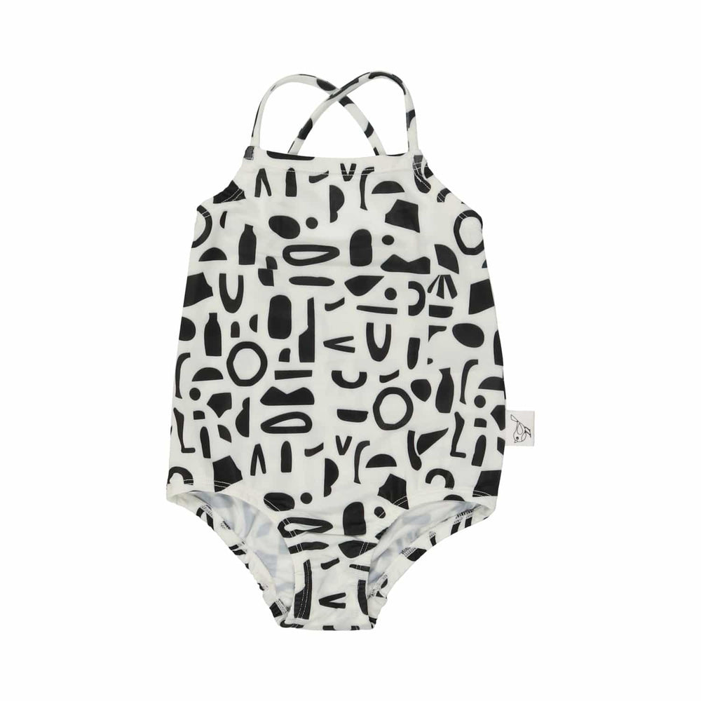 Sparrow Kids Bathing Suit Jellybeanzkids Sparrow Kids Abstract Shape Girls Bathing Suit