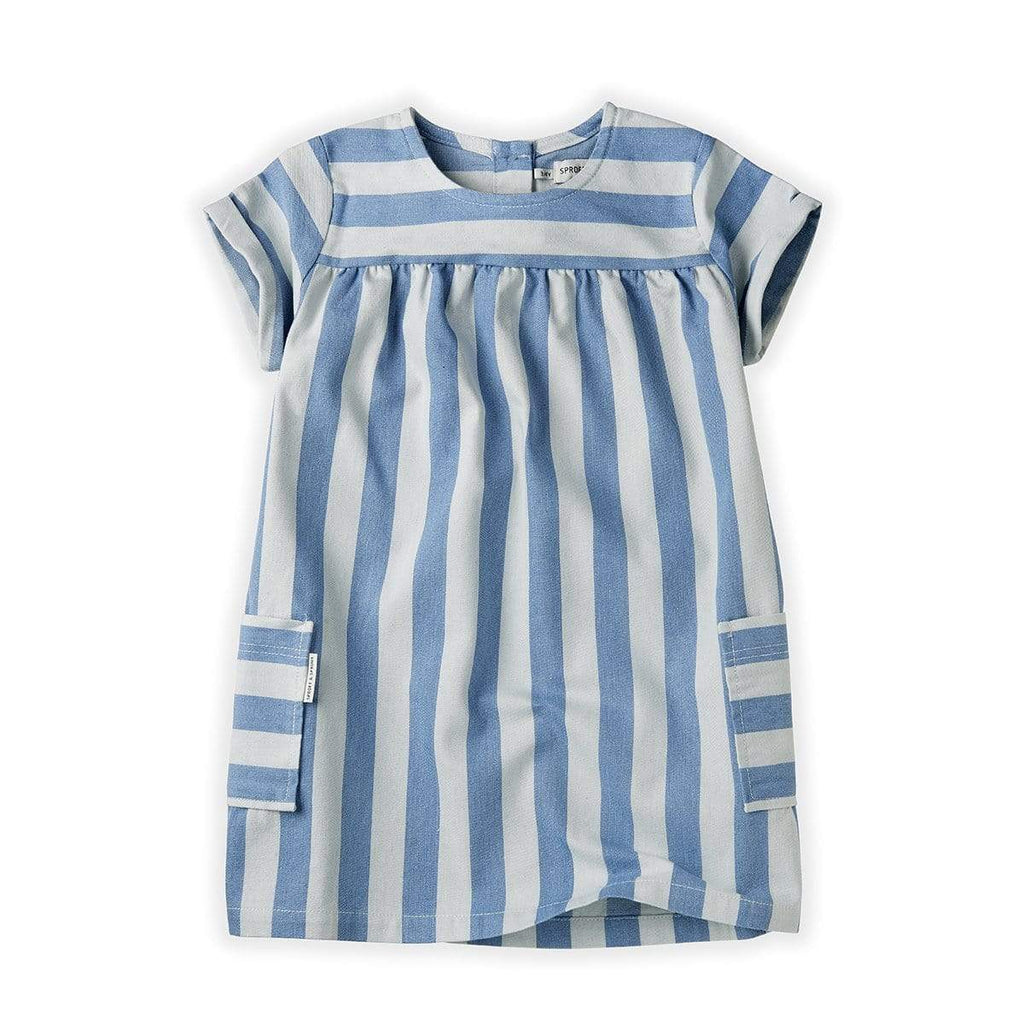Sproet & Sprout Dress Jellybeanzkids Sproet & Sprout Denim Stripe Dress