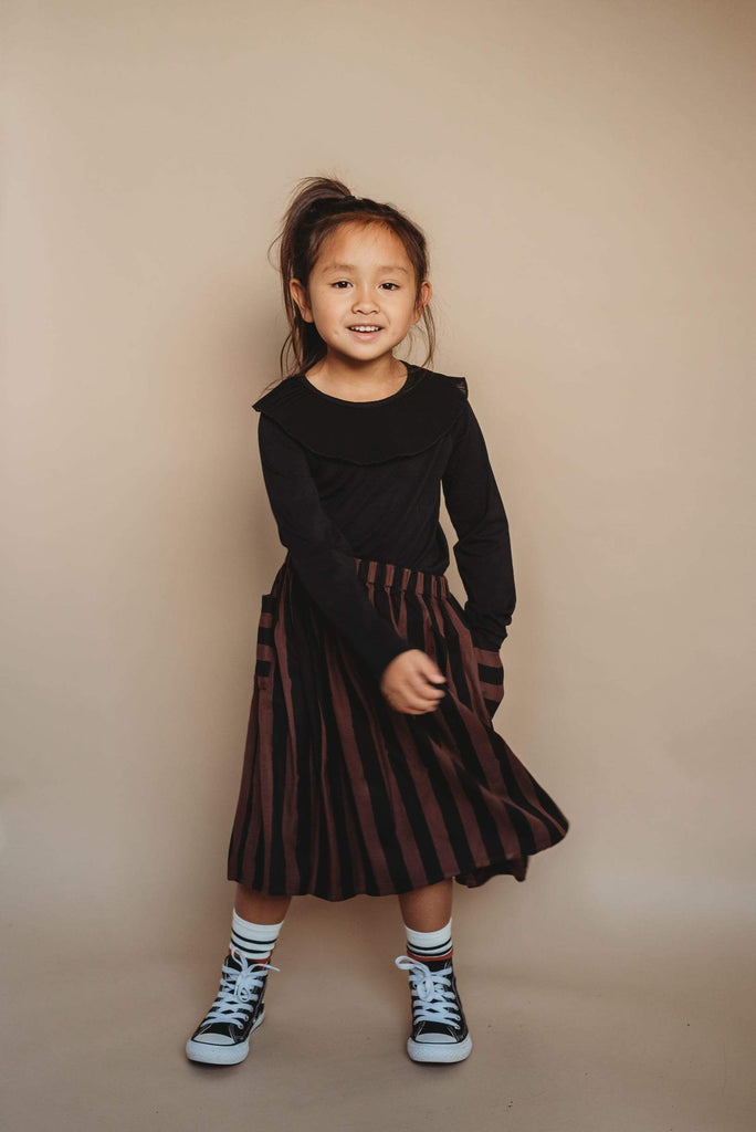 Sproet & Sprout Skirt Jellybeanzkids Sproet & Sprout Painted Stripe Skirt
