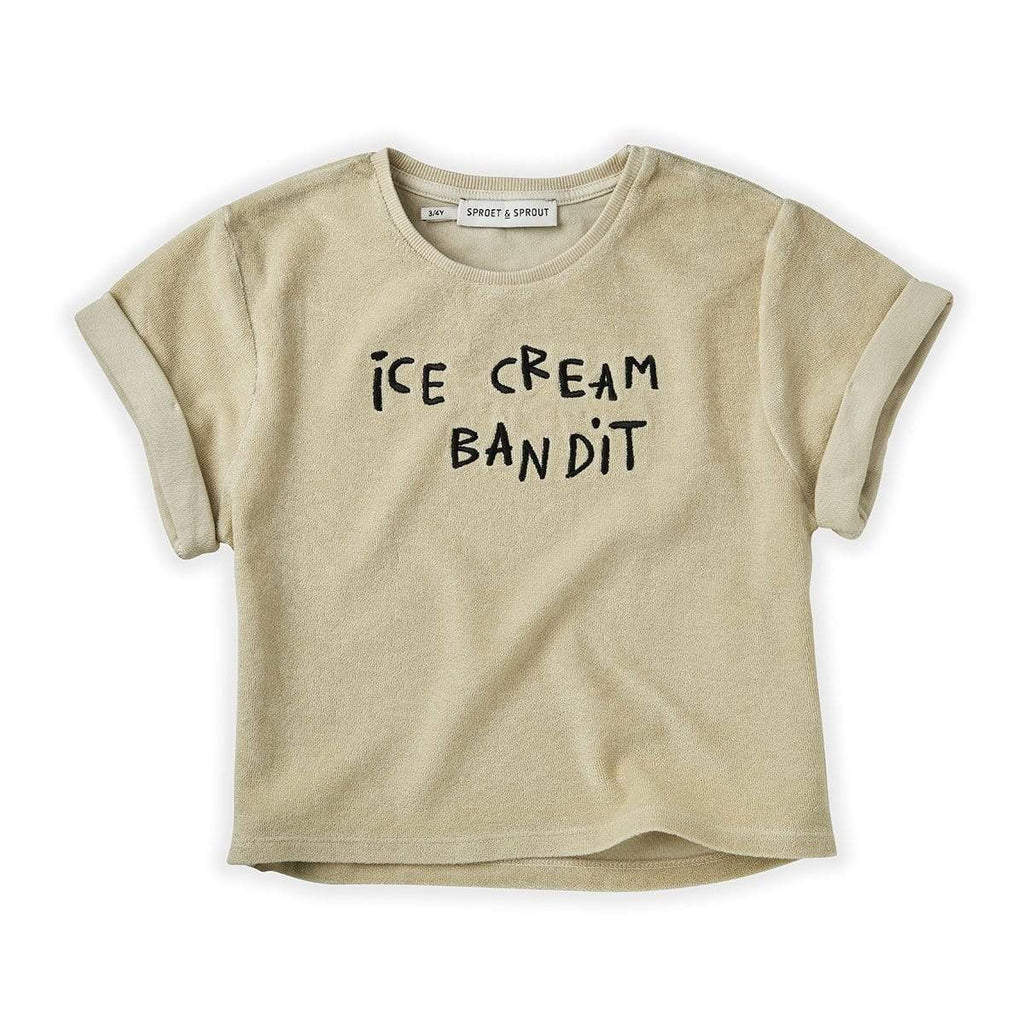 Sproet & Sprout T-shirt Jellybeanzkids Sproet & Sprout Ice Cream Bandit Terry T-Shirt
