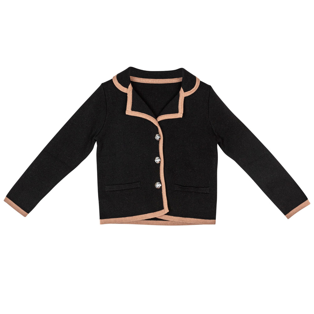 Sweet Threads Blazer Jellybeanzkids Sweet Threads Black Knit Blazer
