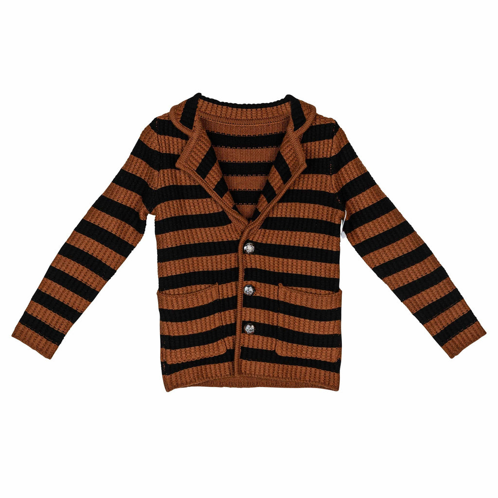 Sweet Threads Blazer Jellybeanzkids Sweet Threads Striped Cardigan
