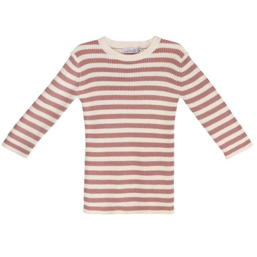 Sweet Threads Sweat Threads Cream Knit Jumper Set  JellyBeanz Kids