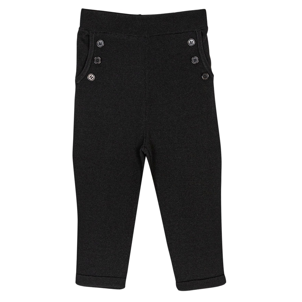 Sweet Threads pants Jellybeanzkids Sweet Threads Black Knit Pants