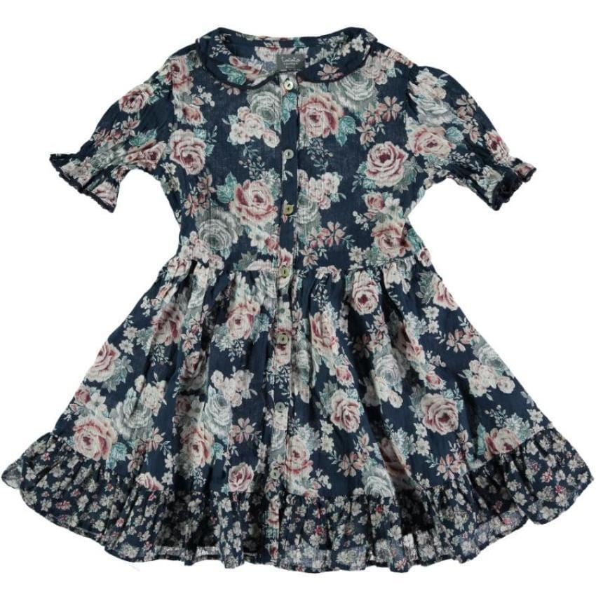 Tocoto Vintage Floral Dress  JellyBeanz Kids