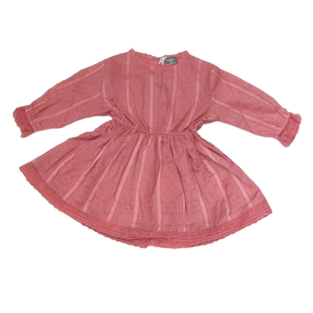 Tocoto Vintage Pink Plumeti Dress  JellyBeanz Kids
