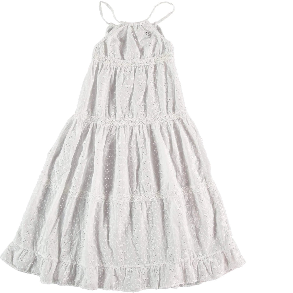 Tocoto Vintage Eyelet Maxi Dress - JellyBeanz Kids