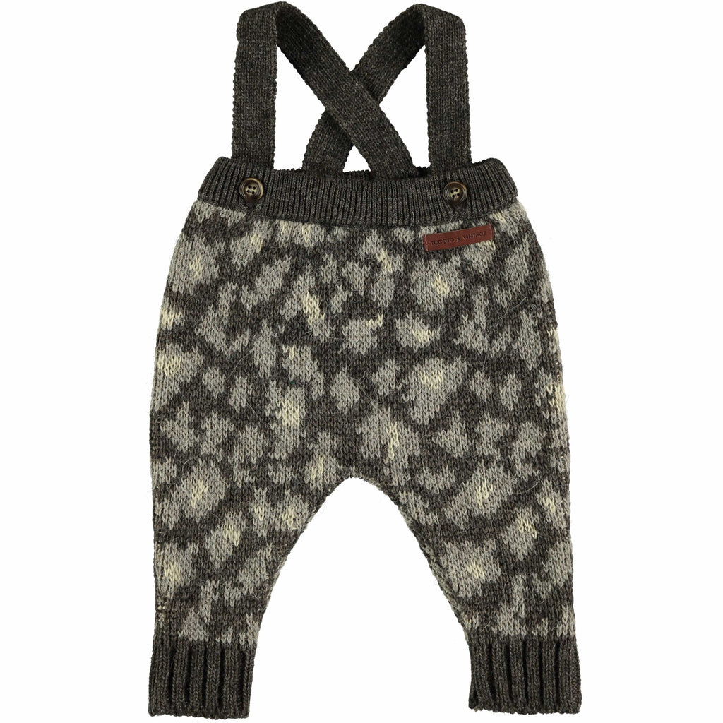 Tocoto Vintage Romper Jellybeanzkids Tocoto Vintage Animal Print Pants with Straps