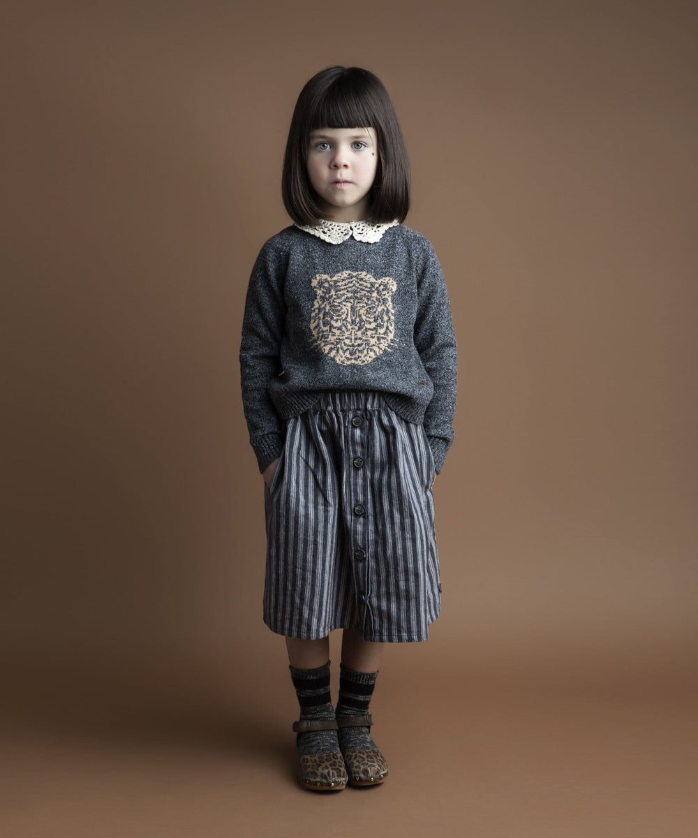 Tocoto Vintage Sweater Jellybeanzkids Tocoto Vintage Tiger Knit Sweater