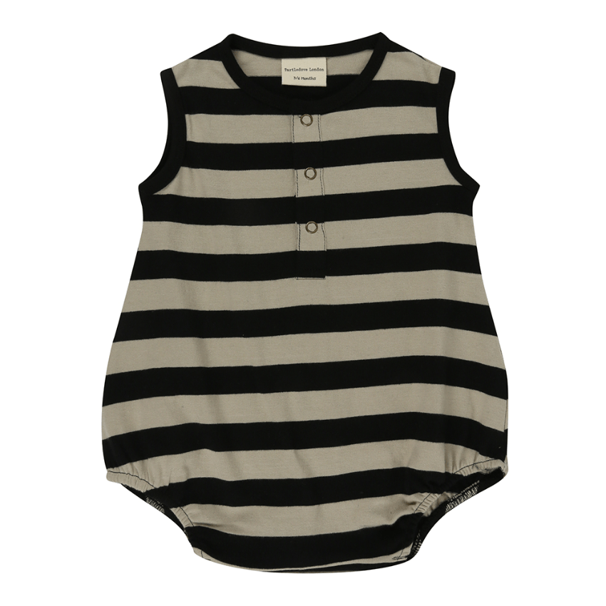 Turtledove London Wide Striped Bubble Romper  JellyBeanz Kids