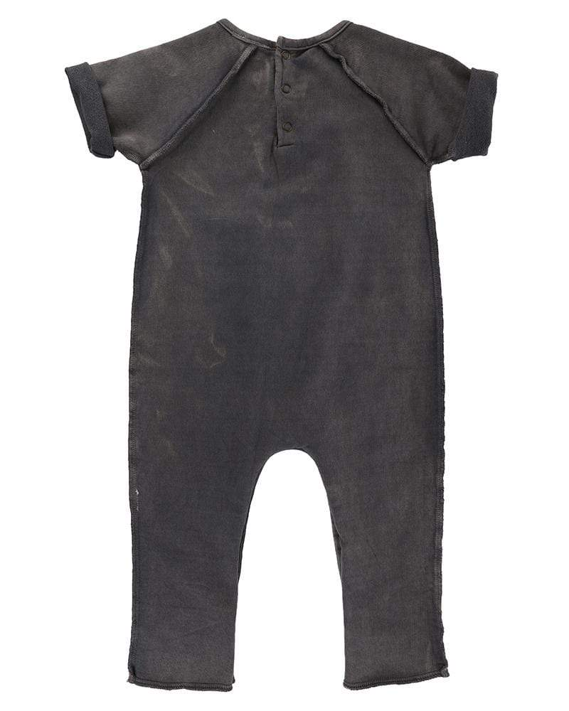 Turtledove London Turtledove London Black-Wash Romper  JellyBeanz Kids