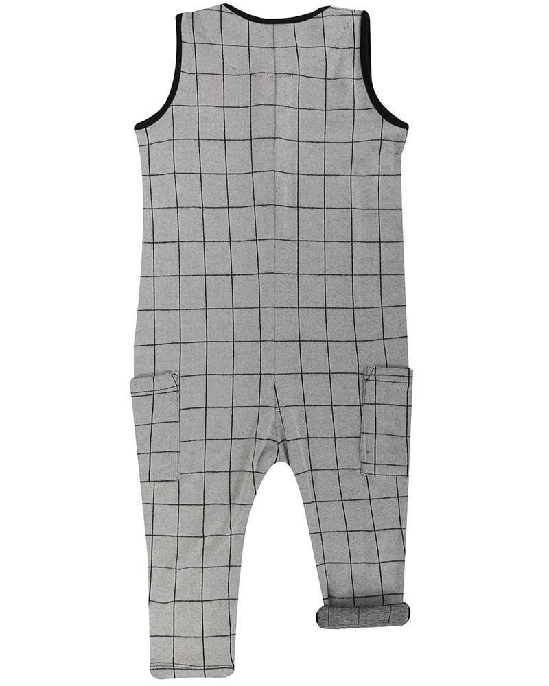 Turtledove London Romper Jellybeanzkids Turtledove London Checked Long Romper