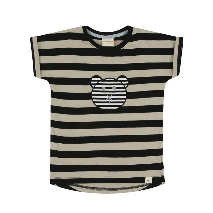 Turtledove London Striped Character T-Shirt  JellyBeanz Kids