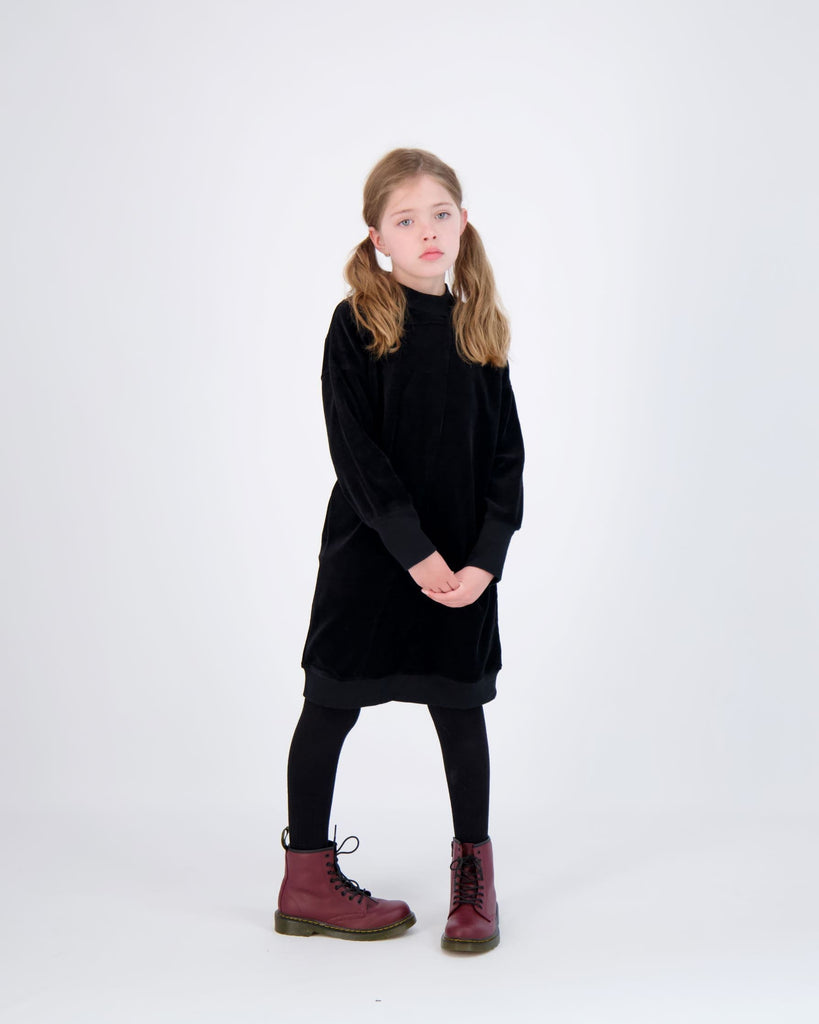 URbani Dress Jellybeanzkids Urbani Black Velour Dress
