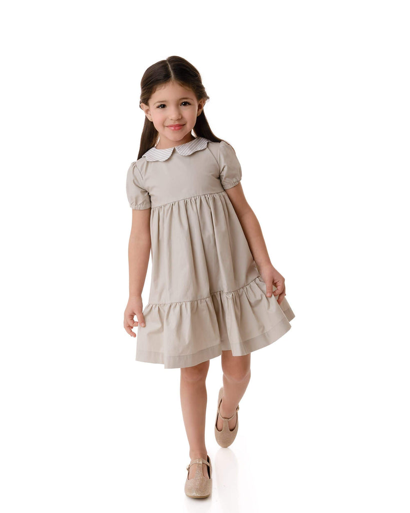 Velvette Label Dress Jellybeanzkids Velvette Label Scalloped Collar Dress