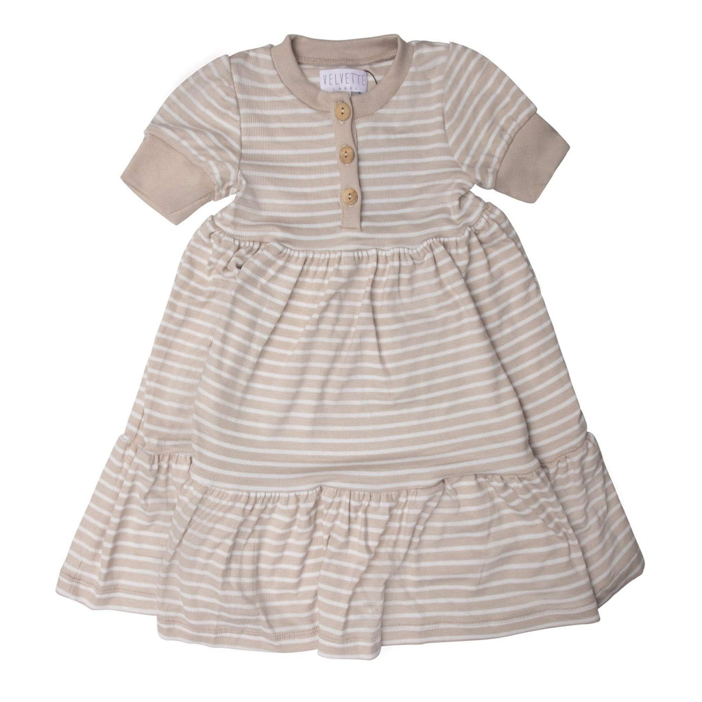 Velvette Label Dress Jellybeanzkids Velvette Label Stripe T-Shirt Dress