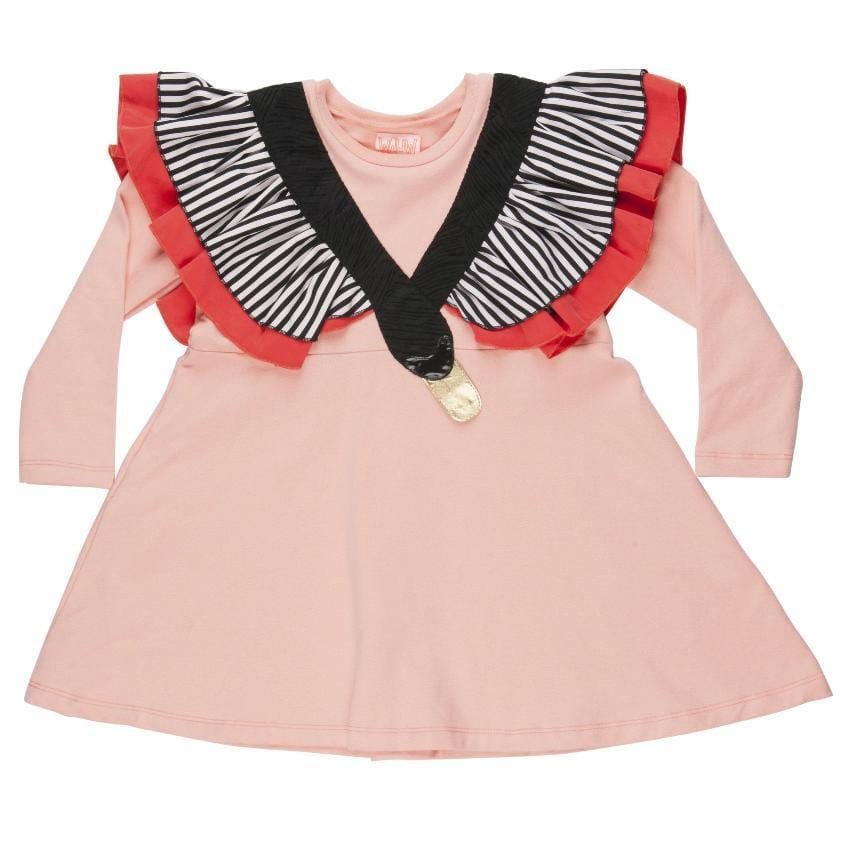 Wauw Capow Dress Jellybeanzkids Wauw Capow Pink Swan Dress