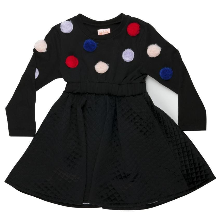 Wauw Capow Wauw Capow Pom Pom Dress  JellyBeanz Kids