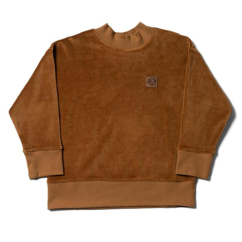 Wynken sweatshirt Jellybeanzkids Wynken Brown Velour Daily Sweatshirt