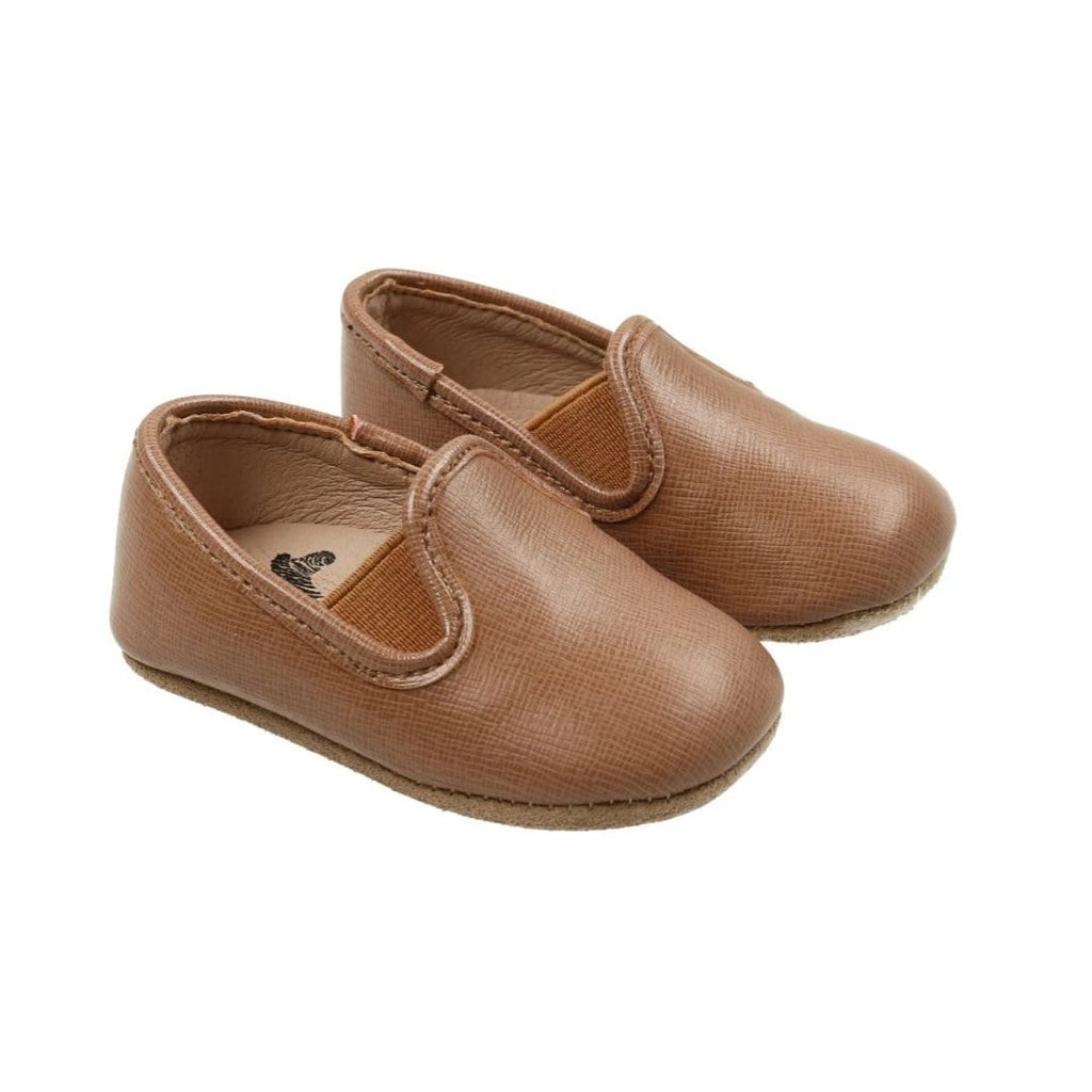 Zeebra Kids Zeebra Almond Leather Baby Loafer  JellyBeanz Kids