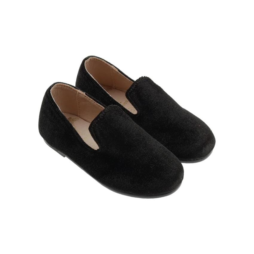 Zeebra Kids Accessories Jellybeanzkids Zeebra Blackstone Velvet Loafer