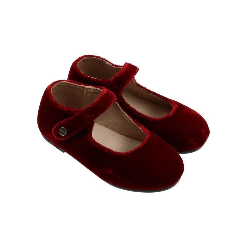 Zeebra Kids Accessories Jellybeanzkids Zeebra Merlot Velvet Mary Jane