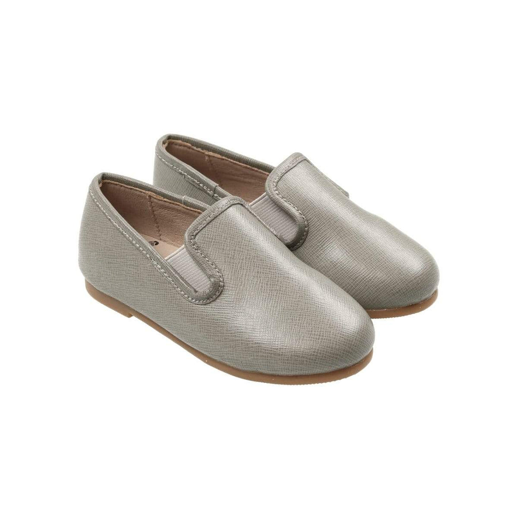 Zeebra Misty Grey Leather Loafer - JellyBeanz Kids
