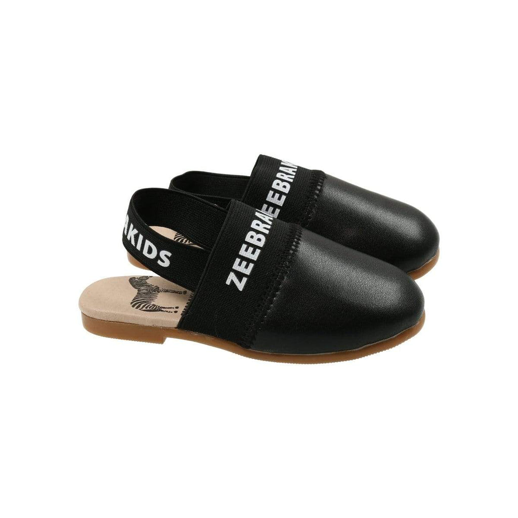 Zeebra Kids Zeebra Onyx Black Slippers  JellyBeanz Kids