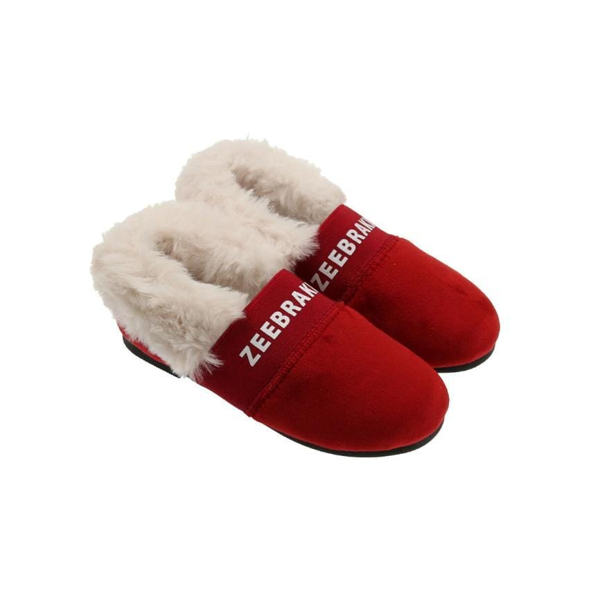 Zeebra Kids Accessories Jellybeanzkids Zeebra Scarlet Fur Baby Slipper