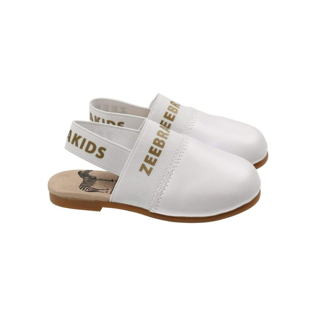 Zeebra Kids Zeebra White Slippers  JellyBeanz Kids